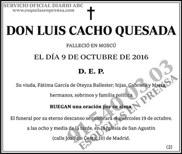 Luis Cacho Quesada